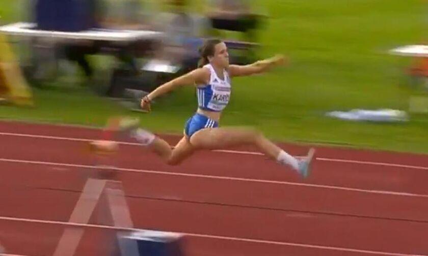Άλμα στα 14,04 (για μετάλλιο) η Σπυριδούλα Καρύδη