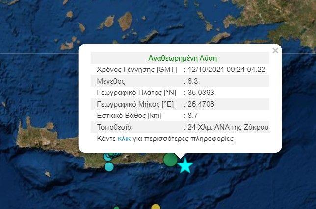 Νέος ισχυρός σεισμός στην Κρήτη - Προειδοποίηση για τσουνάμι