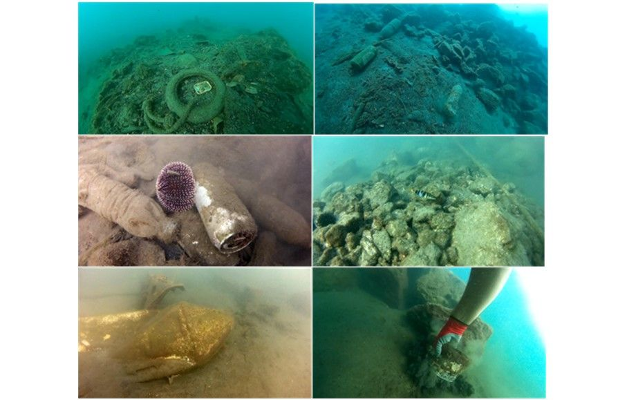 300kg of rubbish ΄fished΄ out of the sea at Old Harbour in Ipsos